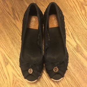 Tory Burch Shoes - Tory Burch Jackie lace espadrille wedges 7 EUC